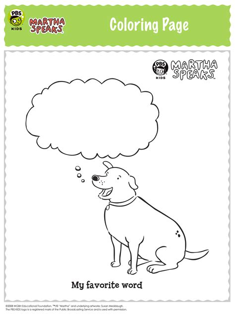 Speech Cp Free Printable Martha Speaks Coloring Pages Martha Speaks Coloring Pages