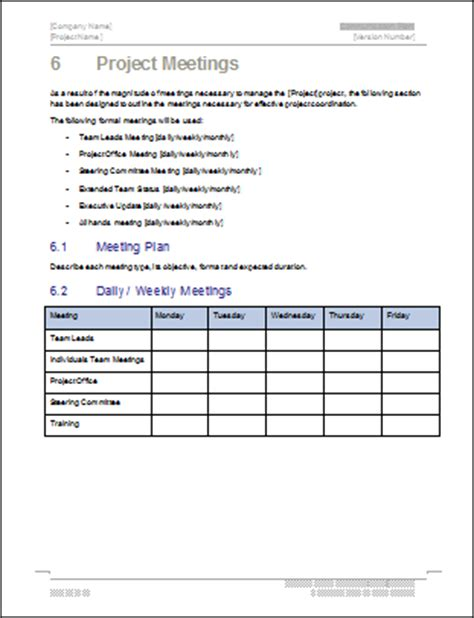 communication plan templates  ms word  excel spreadsheets