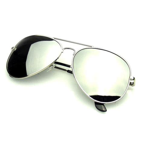 Mirror Sunglasses original silver polarized mirror aviator sunglasses