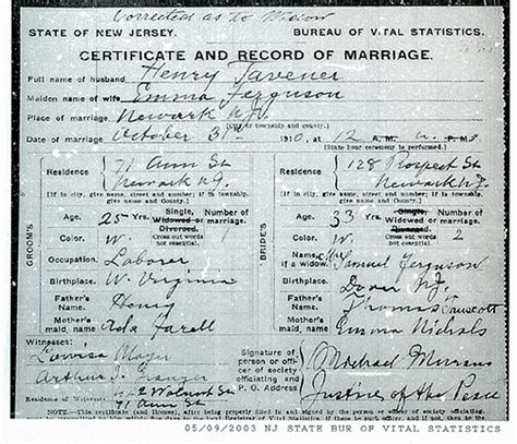 Nj Birth Records Nj Vital Records Jersey City Hudson County Vital Records Html Autos Weblog