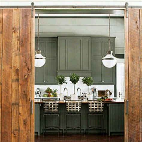 Barn Doors Interior Design Reclaimed Wood Interior Barn Doors In Kitchen
