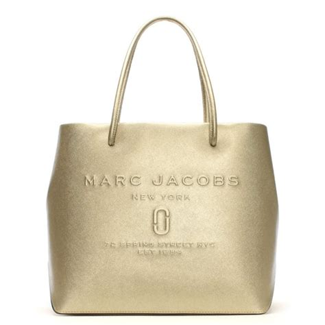 Versace Icon Monogram Eastwest Satchel by Marc Logo Shopper Gold Leather East West Tote Bag