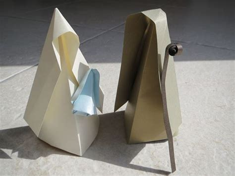 How To Make An Origami Nativity - origami nativity paper nativity