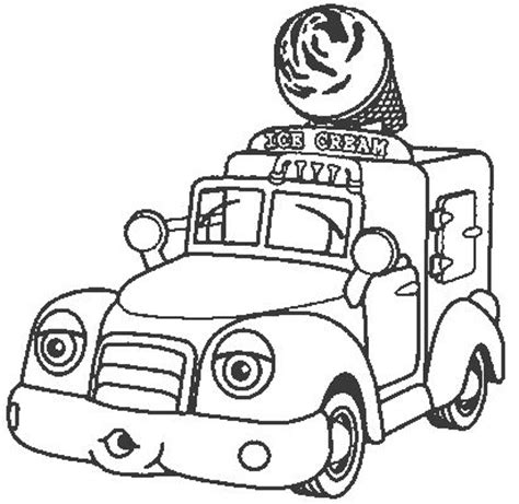 ice cream truck coloring page ice cream truck coloring page sketch coloring page