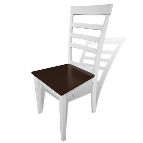 la boutique en ligne lot de 8 chaises marron blanc en bois