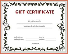 create your own gift certificate bio example