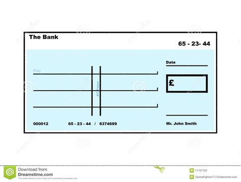 blank cheque template uk blank cheque stock illustration image of business