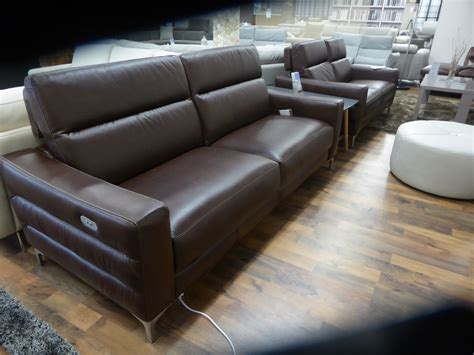 Natuzzi Brown Leather by Natuzzi Editions Pelle Brown Leather Power 3 2 Static