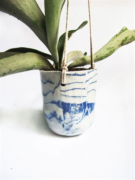 Blue Planter by Delphi Blue Hanging Planter Want Home