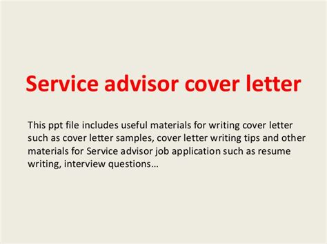 cover letter for automotive service advisor service advisor cover letter