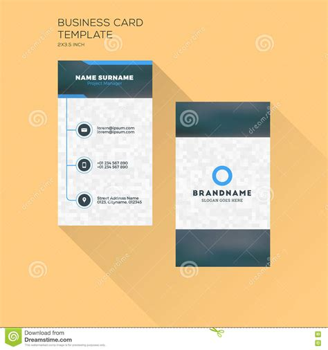 vertical business card template vertical business card print template personal business