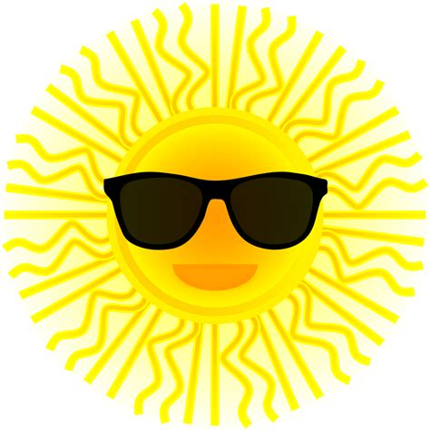 Sun Wearing Sunglasses Clipart sun glasses clipart best