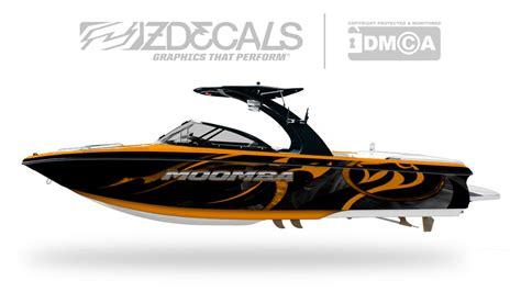 moomba boat orange cannon boat wrap zdecals