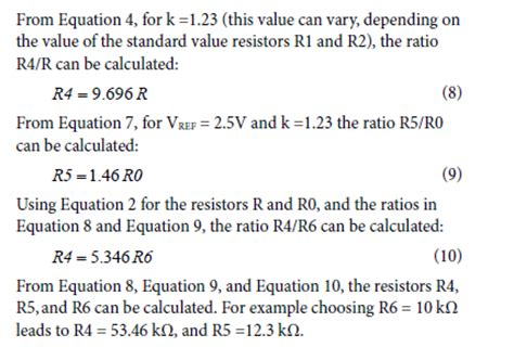 standard resistor value equation cn0335 circuit note analog devices