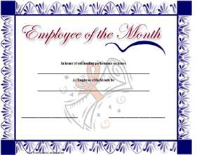 free employee of the month certificate template employee of the month quotes quotesgram