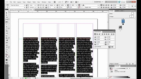 youtube liquid layout indesign placing and formatting text in adobe indesign youtube