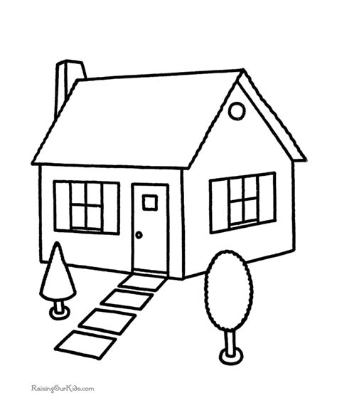 printable coloring pages house house coloring book pages 001