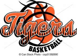 eps vectors of tigers basketball team design with stripes