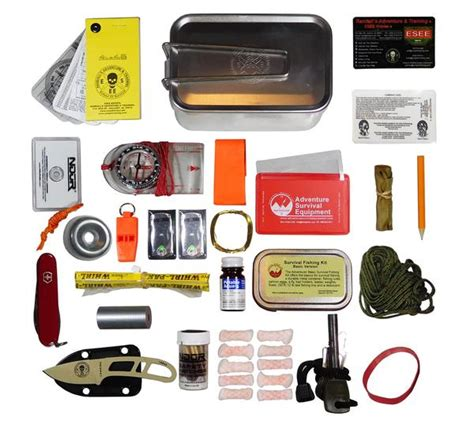 esee survival kit kits survival esee mess tin candiru knife 5col