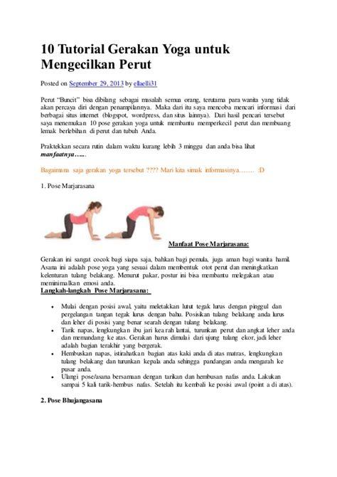 tutorial yoga untuk diet 10 tutorial gerakan yoga untuk mengecilkan perut