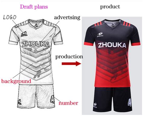 free design jersey soccer custom men s football kit uniform home soccer jersey set
