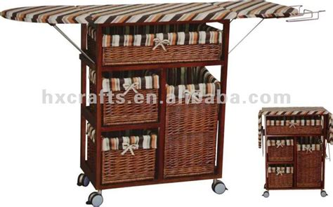 Foldable Wooden Storage Ironing Board In Cabinet For The