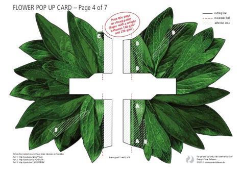 flower pop up card templates dahmen plus de 1000 id 233 es 224 propos de pop up sur