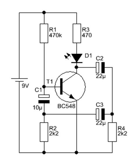 transistor bc548c bc546c bc550c weichblinker