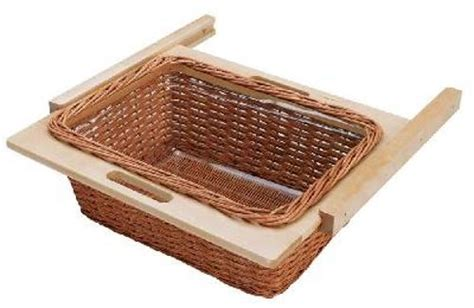 Rev A Shelf Baskets by 520mm 22 1 16 In Rattan Basket Rails And Liner 4wb 520i