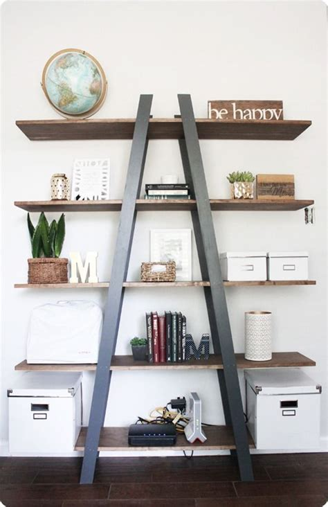 Diy Furniture West Elm Knock Off Ladder Shelf I Love Ladder Bookcase Diy