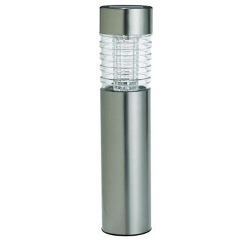 bollard solar lights westinghouse solar powered stainless steel renzo bollard