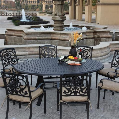 8 Person Patio Dining Set Darlee Santa Barbara 8 Person Cast Aluminum Patio Dining Set Antique Bronze Modern Outdoor