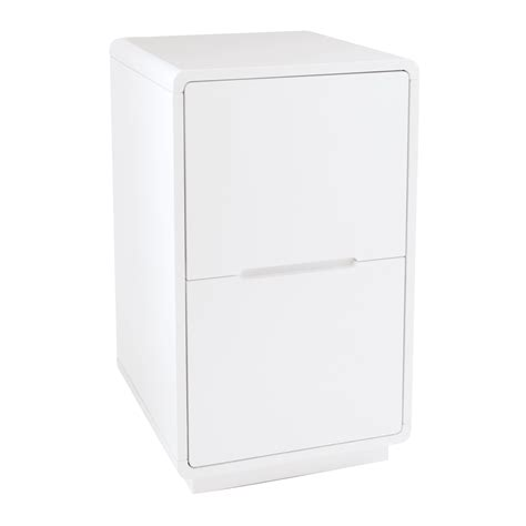 monza office cabinet white   dwell