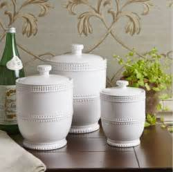 Decorative Canister Sets Kitchen by 3 Piece White Lidded Canister Set Jars Containers