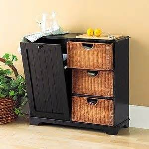 Waste Baskets For Kitchen Cabinets by Trash Bin Storage Cabinet With Baskets Black For The