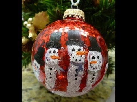 diy christmas handprint snowman ornament easy how to youtube