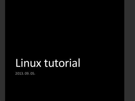 Linux Tutorial Tldp | linux tutorial