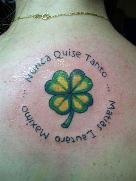 imagenes de tatuajes de trebol tatuaje trebol imagui
