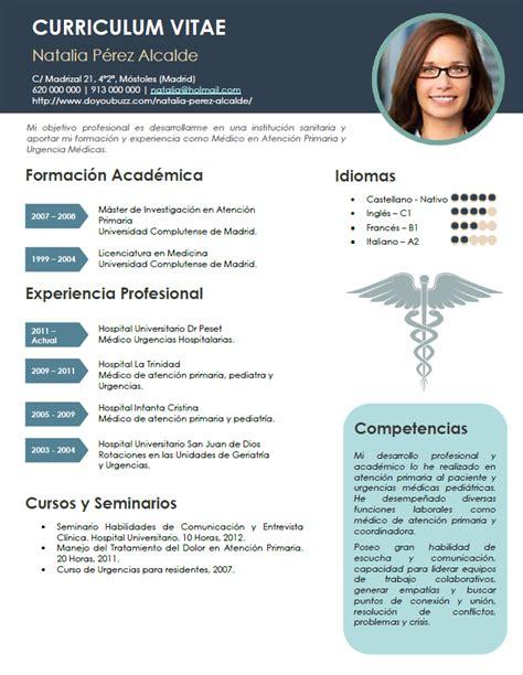 Modelo Curriculum Medico España Curriculum De M 233 Dicos Enfermeras Plantillas De Cv Sanidad Cvexpres