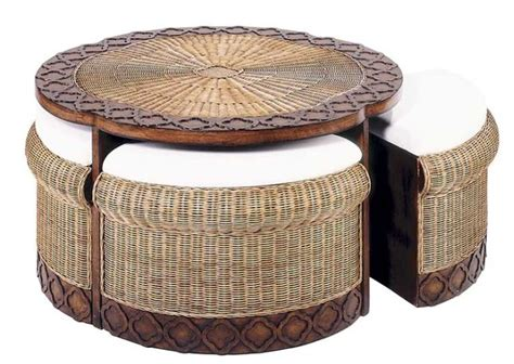 wicker coffee table ottoman round wicker ottoman coffee table unique coffee tables
