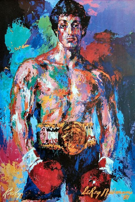 show de painting artist leroy neiman the ring announcer from the rocky