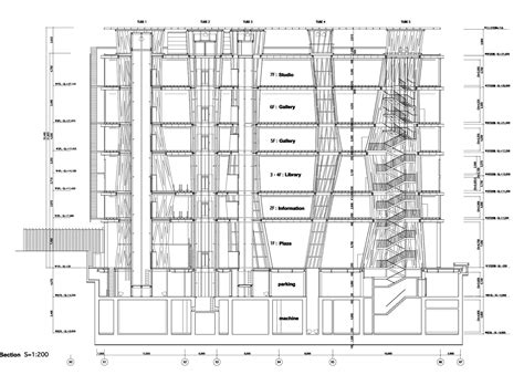 sendai mediatheque floor plans sendai and toyo ito on pinterest