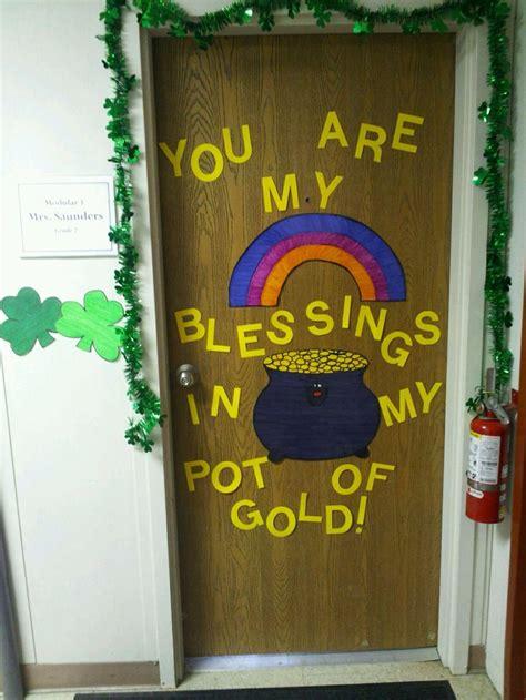 christian take on st patricks day door decoration mrs