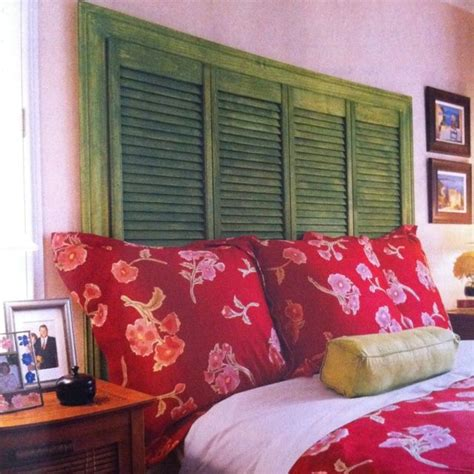 Louvered Headboard by Things Made Out Of Pallets Headboard Made Out Of Two