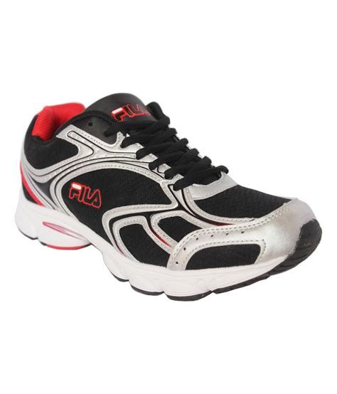fila sport shoes fila exclusive black sport shoes price in india buy fila