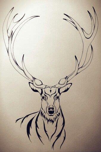 free online tattoo design stag illustration design tattoos