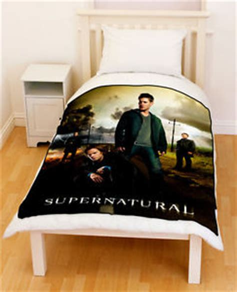 supernatural bed set supernatural sam dean winchester castiel fleece blanket