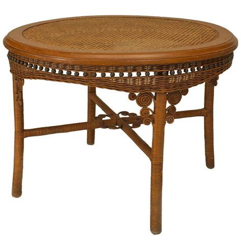 Wicker Dining Room Table 19th C American Wicker Dining Table For Sale At 1stdibs