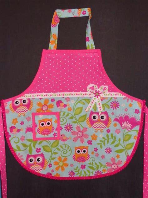 apron jazz pattern owl apron for little girl i used mccalls pattern m6587 i