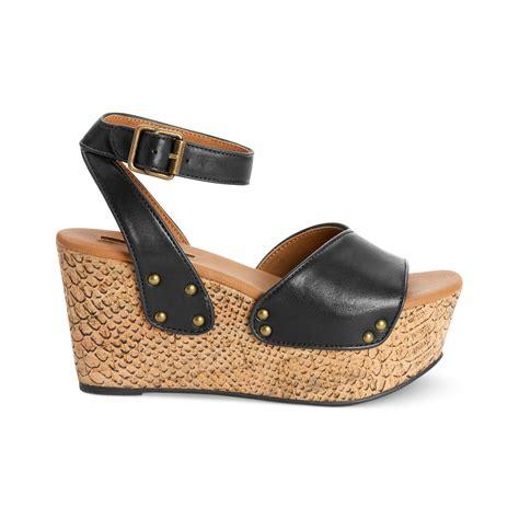 calvin klein ck womens shoes calla platform wedge
